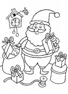 Babbo Natale incarta i regali