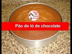 Recheando bolo na forma, pão de ló de chocolate e brigadeiro com morangos - Espaço das delícias culinárias