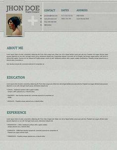 Plantilla Gratis Curriculum Vitae Creativo 06 Cv Design, Resume Design, Best Cv Formats, Photoshop, Sample Resume, Resume Ideas, Resume Templates, Free Resume, Education