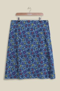 Inspired by Scandinavian folk tapestry, our new Firework Floral Reversible Skirt truly reflects the free spirit of a bohemian lifestyle. The a-line skirt features has an explosive firework floral print one side, reversible into a more subtle and softer floral design. A two for one must have this season!