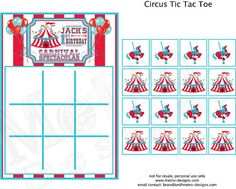 Circus Carnival Theme Party Games PRINTABLE DIY  by by MetroEvents, $8.98
