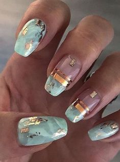 120 trending early spring nails art designs and colors 2019 page 39 - Marmor Nails - Nageldesign Spring Nail Art, Spring Nails, Summer Nails, Cute Nails, Pretty Nails, Marmor Nails, Nail Art Designs, Nail Design, Nails Yellow