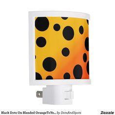 Black Dots On Blended OrangeToYellow Nite Lites