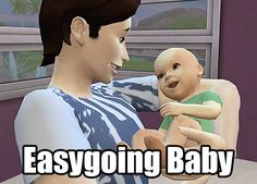 Easygoing Baby by egureh at Mod The Sims via Sims 4 Updates