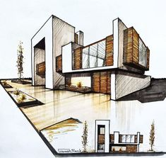 Home Design - Architectural Drawing - Drawing On Demand architects companies architecture design architecture architecture arch design Model Architecture, Interior Architecture Drawing, Architecture Design Concept, Architecture Portfolio Layout, Architecture Drawing Sketchbooks, Conceptual Architecture, Architecture Diagrams, Home Design, House Sketch Design