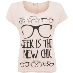 Misumi Pink Geek New Chic T-Shirt ($9.03) ❤ liked on Polyvore featuring tops, t-shirts, shirts, remeras, pink short sleeve shirt, pink tee, faux leather shirt, short sleeve shirts and short sleeve t shirts