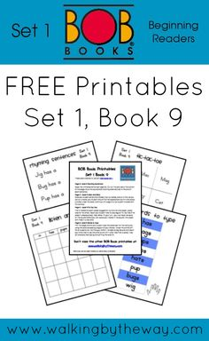 FREE BOB Book Printables for Set 1 Book 9 from Walking by the Way