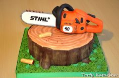 Chainsaw for lumberjack - Cake by cipca