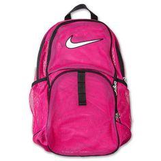 NEW NIKE MESH BACKPACK PINK BAG SPORTS GYM TRAVEL SPORTS SCHOOL DUFFEL  CARRY ON  Backpack b0f16e2dd8