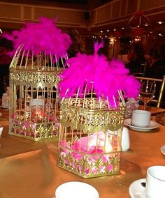 Decor -cage -kafes -dekor-dekorasyon- pink-pembe -wedding -table-gold-dugun-kina -nisan-soz