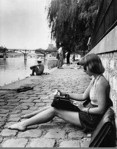 Le square du Vert-Galant en 1947, photographié par © Robert Doisneau.