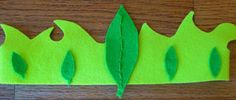 """DIY: """"Garden Elf Crown"""" with felt- because Boys need to be kings and girls need to be queens!  (Secure onto elastic band for headwear.)"""