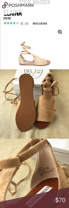 NEW!! Steve Madden Elaina sandals A versatile sandal with rustic suede upper and lace-up ankle strap // BNIB // Spring 2017 collection // slight discoloration on stitching (see pic) Steve Madden Shoes Sandals