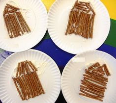 Abe Lincoln Log Cabin Snack from Preschool Playbook