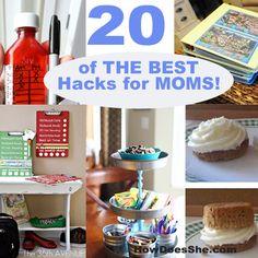 20 of THE BEST Hacks for MOMS! #howdoesshe  #tipsformoms howdoesshe.com