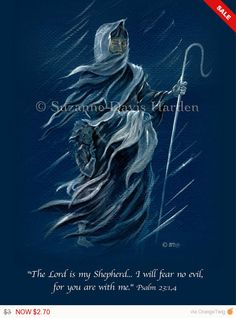 SPRING SALE! The Lord Is My Shepherd Encouraging Card Illustrated by Suzanne Davis Harden by WingsPublications on Etsy