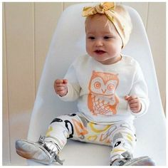 Your little one will be totally owl-dorable in this precious #BabyOutfit !  Some matching booties are all you need to complete the look. #owl #cute #cutebaby #baby http://ift.tt/2be40wG