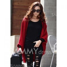 Stylish Style Cardigans Dolman Sleeves Design Sweater For Women SAMMY dress.com  great prices :D