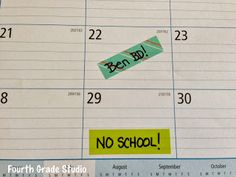 Quick & Easy calendar to post in room in addition to smartboard calendar activities...smart idea!