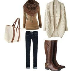 I love when fall outfits have tall boots to complete the look