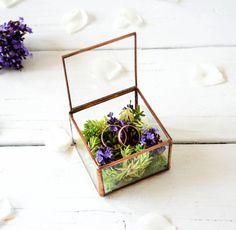 NEW Small Wedding Ring Holder / Copper Wedding Ring Box / Pinned by: www.smithgoldsmith.com