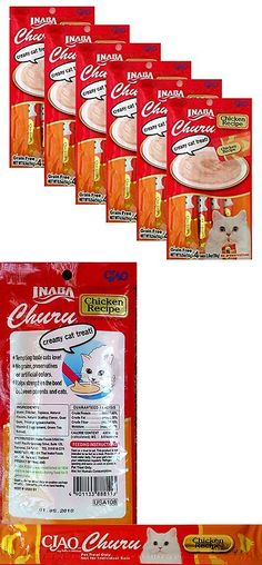 Cat Treats 63071: Ciao Churu Cat Treat Chicken Puree 6-Pack (24 Tubes) BUY IT NOW ONLY: $36.0