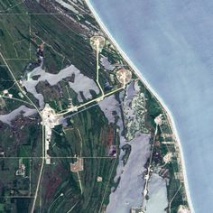 a view of the NASA launch complex from even more higher up