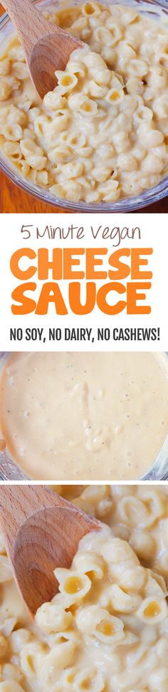 I have no idea how this works, but it does! Ultra creamy vegan cheese sauce without cashews, perfect for vegan mac and cheese