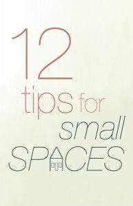 Great article chalk full of ideas for small living spaces. Create a landing space. Take off a few cabinet doors. Add multiple points of lower than eye level light. Add mirrors. Declutter.