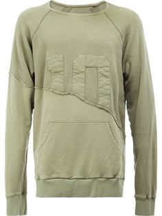 Shop Greg Lauren panelled sweatshirt.
