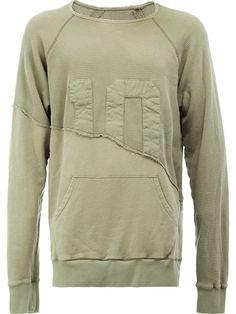 Comprar Greg Lauren panelled sweatshirt.