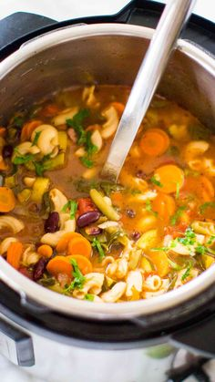 Best Instant Pot Minestrone Soup is delightfully good, tasty and healthy! Packed with so many hearty veggies and beans you can have a few bowls guilt free.