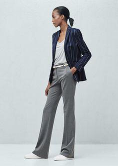 mango pinstripe suit navy - Google Search