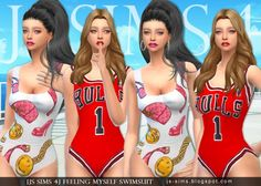 JS Sims 4: Feeling Myself Swimsuit • Sims 4 Downloads
