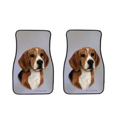 Beagle Car Mats by Artist Tamara Burnett, click or dial 1-844-446-4DOG for beagle car mats and gifts that donate to help feed shelter dogs in the USA.