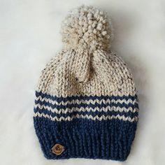On Sale fair isle beanie with pom/hat with pom pom/ knit beanie/slouchy beanie/unisex knit hat/ pom pom hat/ knit beanie with pom pom/ unise - $30.99 USD