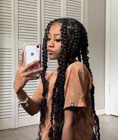 Box Braids Hairstyles, Black Girl Braided Hairstyles, Baddie Hairstyles, Protective Hairstyles, Girl Hairstyles, School Hairstyles, Wedding Hairstyles, Protective Styles, Relaxed Hairstyles