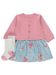 Floral Print Dress and Tights Set, read reviews and buy online at George at ASDA. Shop from our latest range in Baby. Whether it's for every day, parties or ...