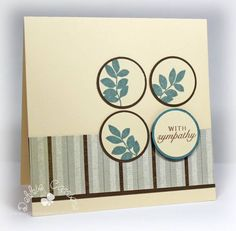 CTMH card - mom2n2  Think I'm going to try this with the small leaves from SU Just Believe or Pocket Silhouettes