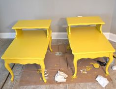 yellow end tables.