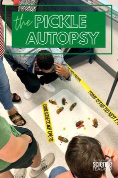 "The pickle autopsy is a student-favorite in my Forensics class and is perfect for practicing dissecting procedures, teaching ""the autopsy,"" or just using as a ""who dunnit"" activity. Grab this free 3-page student lab sheet!"