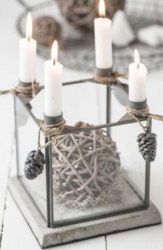 IB LAURSEN / Adventní svícen s podstavcem - šedý