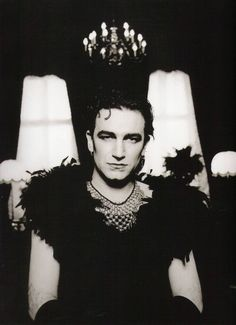 Bono in drag during the Achtung Baby era by Anton Corbijn