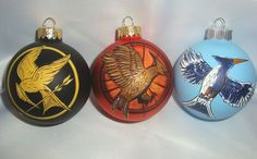 hunger games ornament mocking jay pin inspired by TotallyObsessed, $50.00