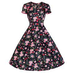 e00927c2ea Pretty Kitty Black Pink Floral Oriental Swing Dress – Pretty Kitty Fashion