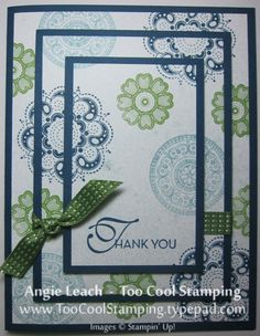 Triple Time Spritzed Lacy - Look at my version under My Cards Board - this was fun, quick and a great Wow card to do!
