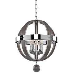 Sharlow Charcoal Silverleaf Glass 19-Inch-W 5-Light Pendant - #EU7W046 - Euro Style Lighting
