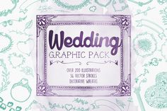 Wedding Vector Graphic Pack by Mockup Zone on Creative Market