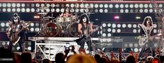 Gene Simmons, Eric Singer, Paul Stanley and Tommy Thayer of Kiss performs at Fashion Rocks 2014 on September 9, 2014 in New York, United States.