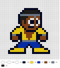 Power Man Perler Bead Pattern